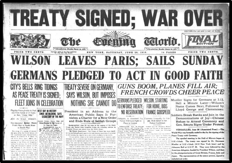 Image result for treaty versailles