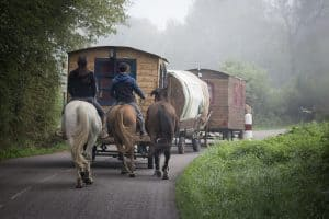 the first RVs--gypsy wagon