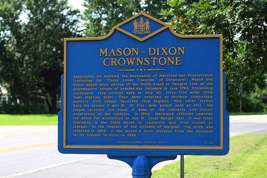 Mason-Dixon Crownstone Sign