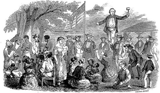 Slave auction in the USA
