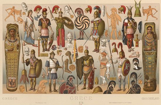 Ancient Greek warrior costume