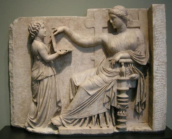 Gravestone of Greek woman