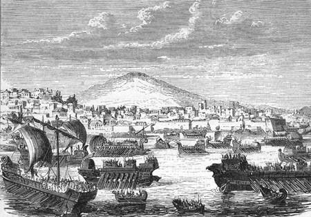 Athenian naval fleet before Syracuse