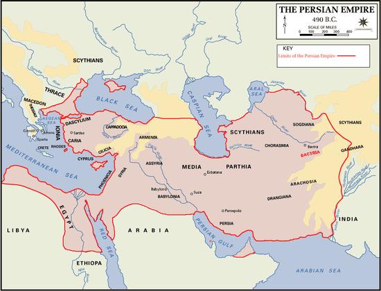 The Persian Empire in 490BC